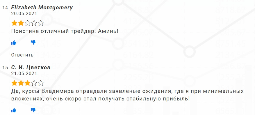 Владимир Баженов отзывы