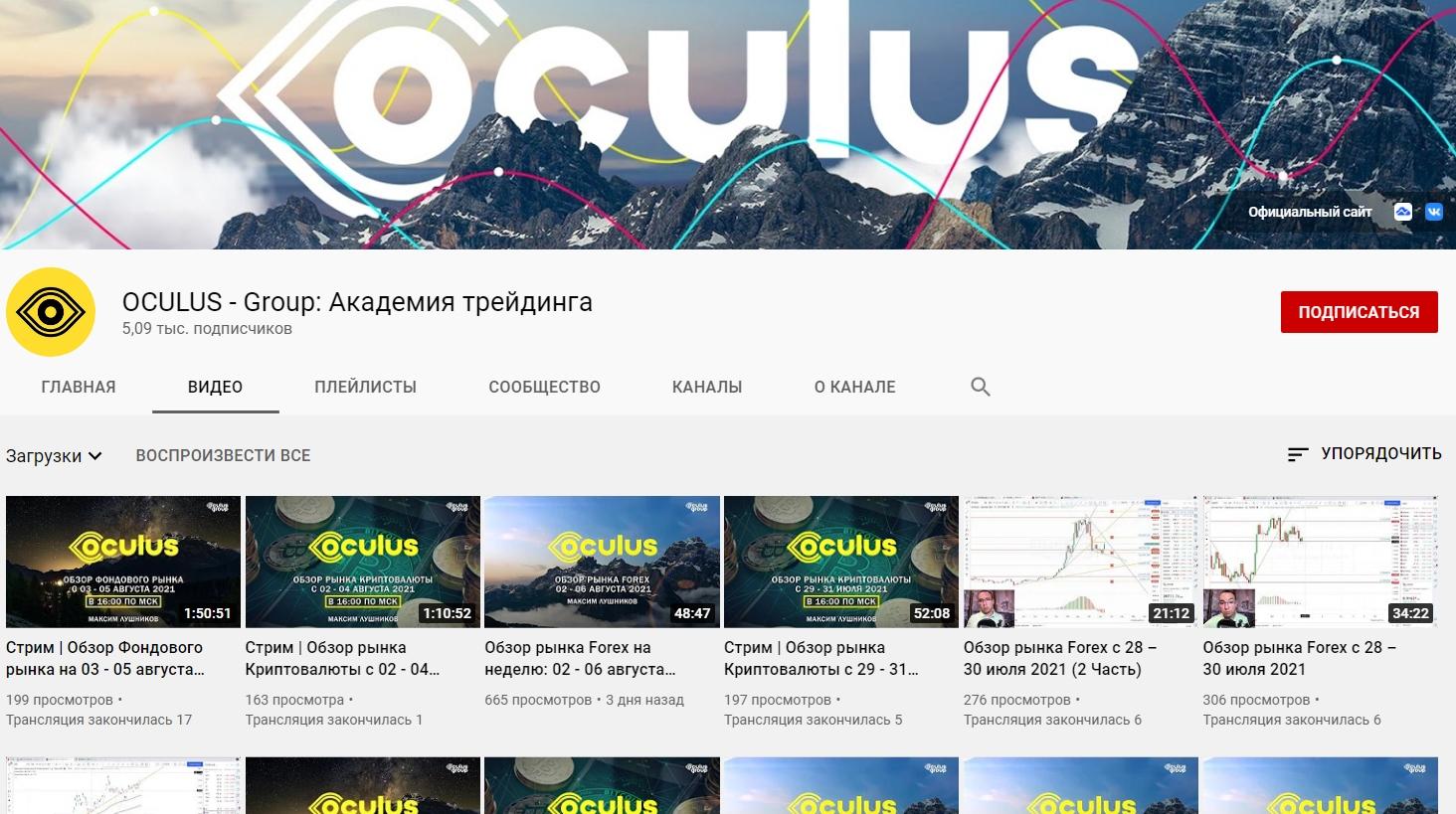 Ютуб канал Максима Лушникова